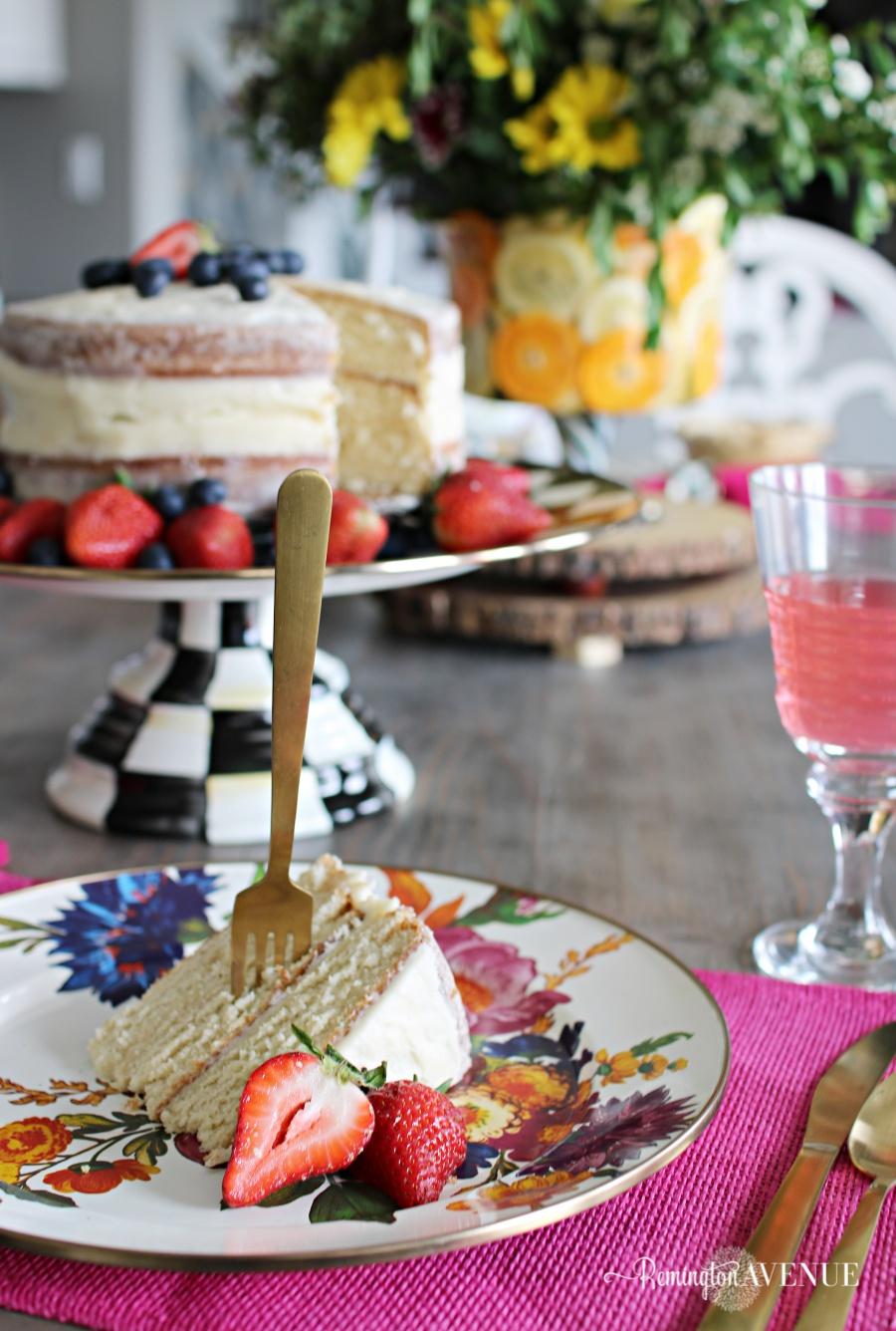 Floral and Citrus Summer Brunch Table,summer brunch