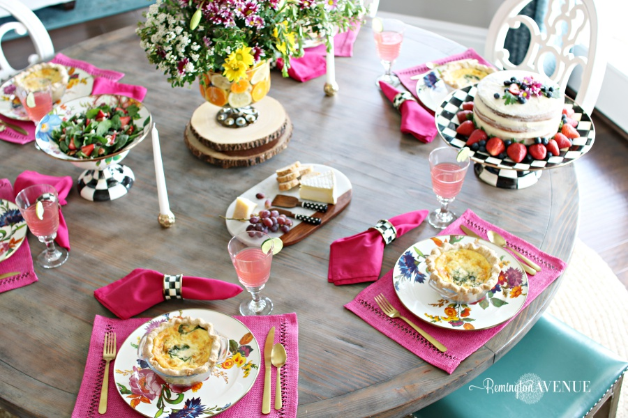 Floral and Citrus Summer Brunch Table, summer tables cape, summer brunch ideas