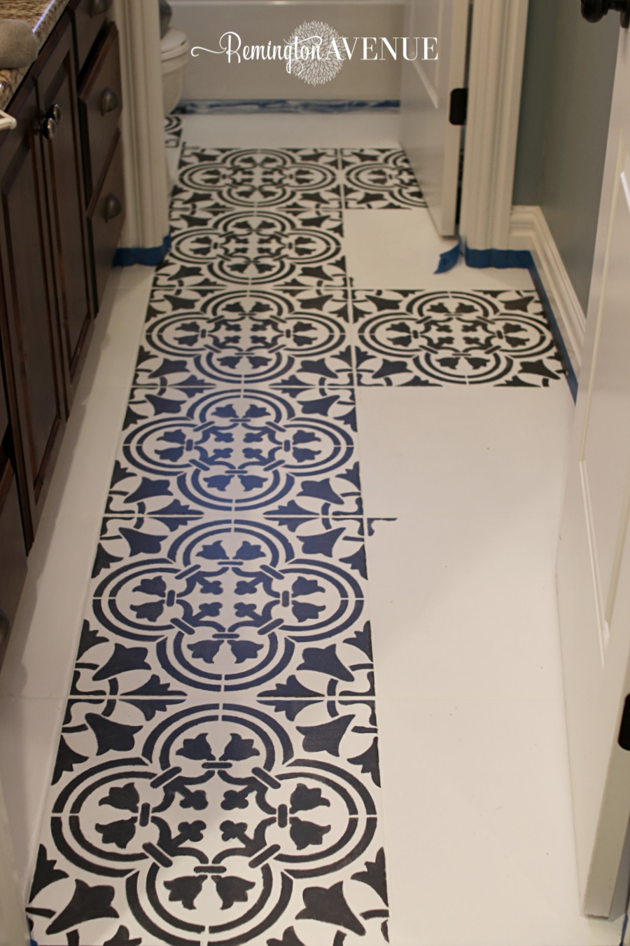 How To Paint Stencil Tile Remington Avenue