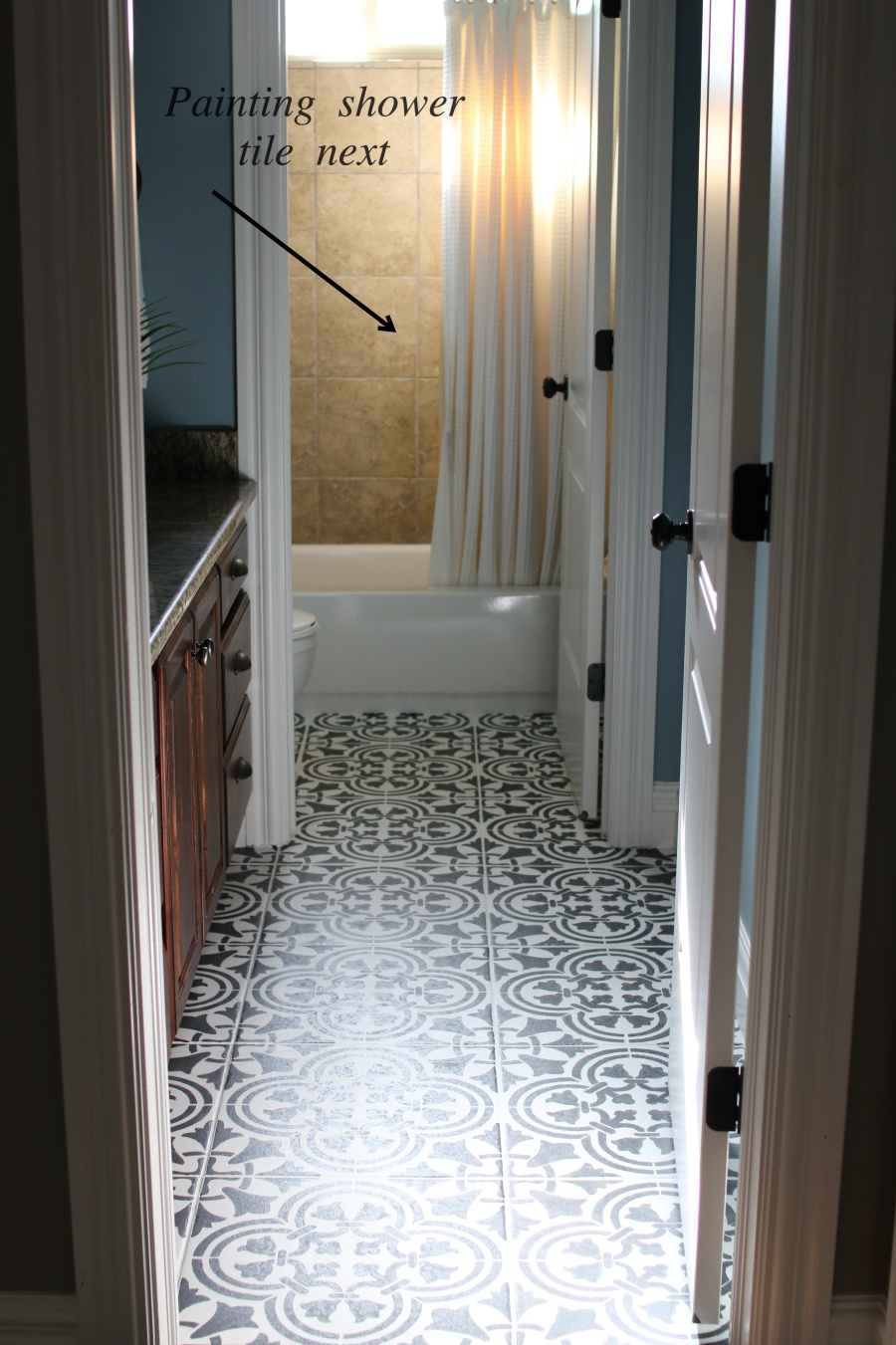How to Paint & Stencil Tile - Remington Avenue