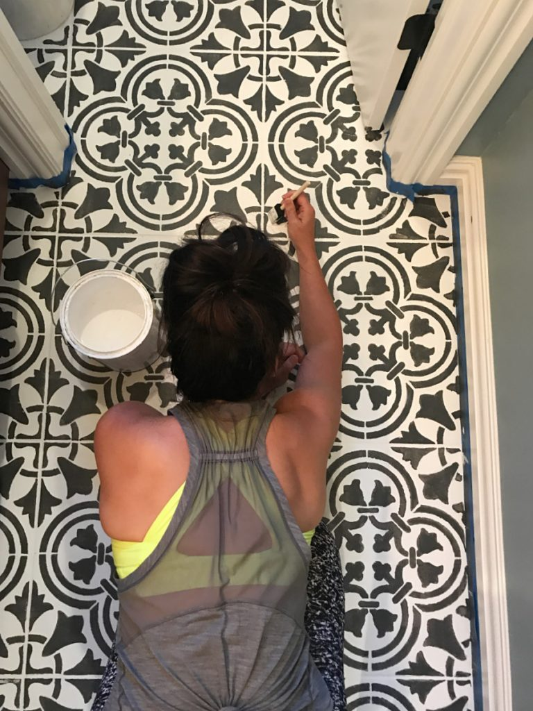 How to Paint & Stencil Tile