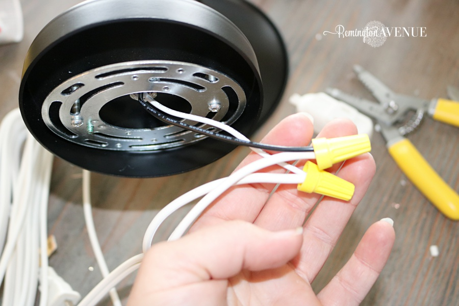How to convert hard wired light fixtures into a plug in - Remington Hard Wire A Plug In Light on butterfly in wire, lead in wire, extension wire, spring wire, electrical wire,