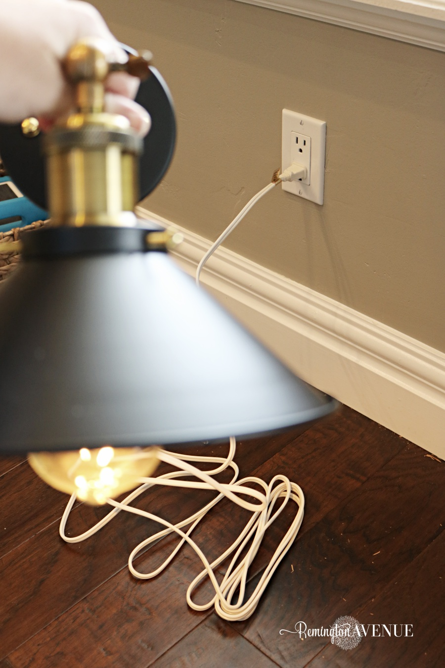 How To Convert Hard Wired Light Fixtures Into A Plug In Remington Wiring Diagram Switch 7 Diy Electrical Pinterest Mount The Wire Lights And Attach Them Remote Control Power Strip