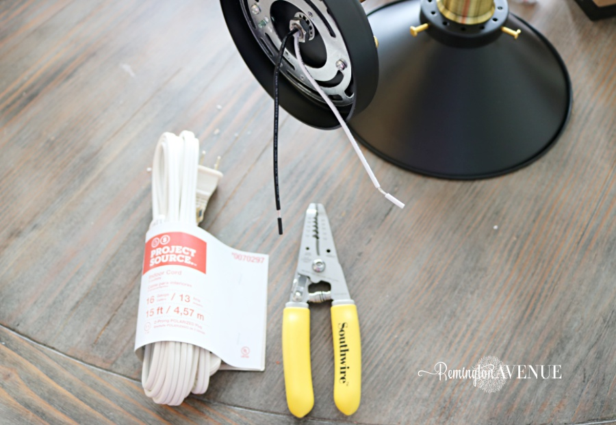How to convert hard wired light fixtures into a plug in - Remington ...