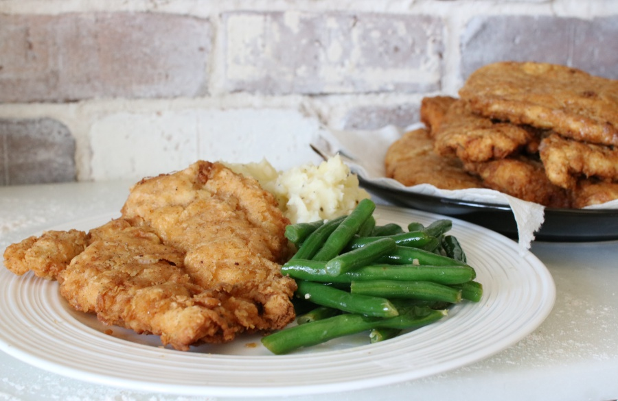 country fried boneless chicken. Cooks up crispy on the outside and tender on the inside