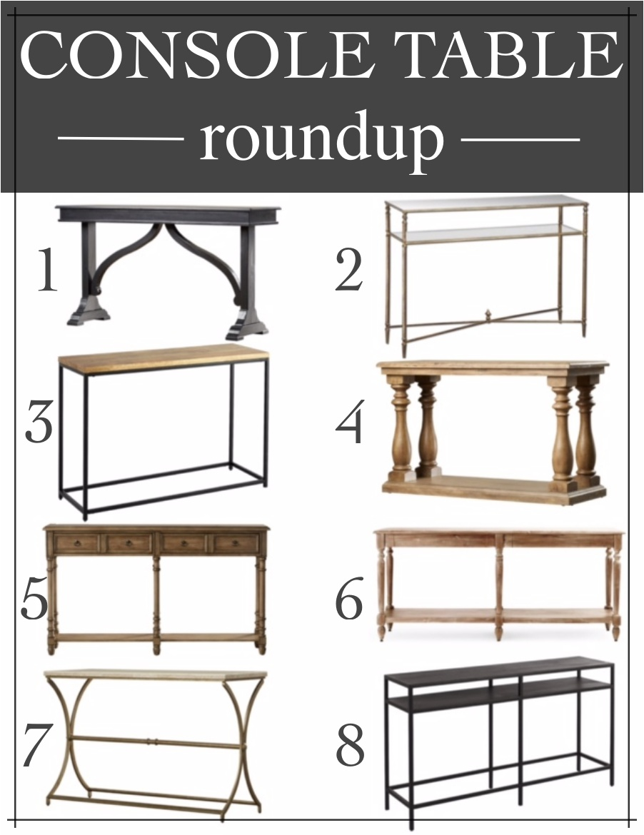 Transitional & affordable entryway console tables that will work with any decor style.