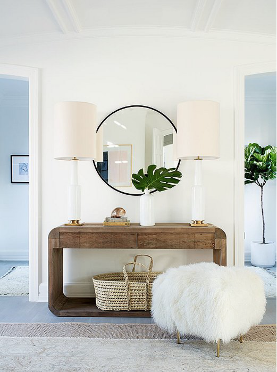 Console Table Round Up Bright And Airy Entryway Design With High Style Function
