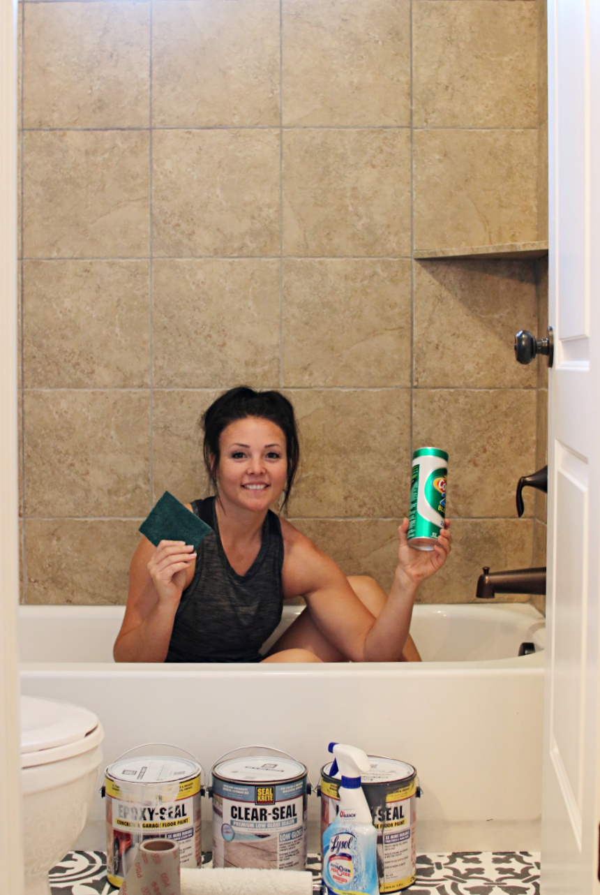 step by step tutorial - How to paint shower tile