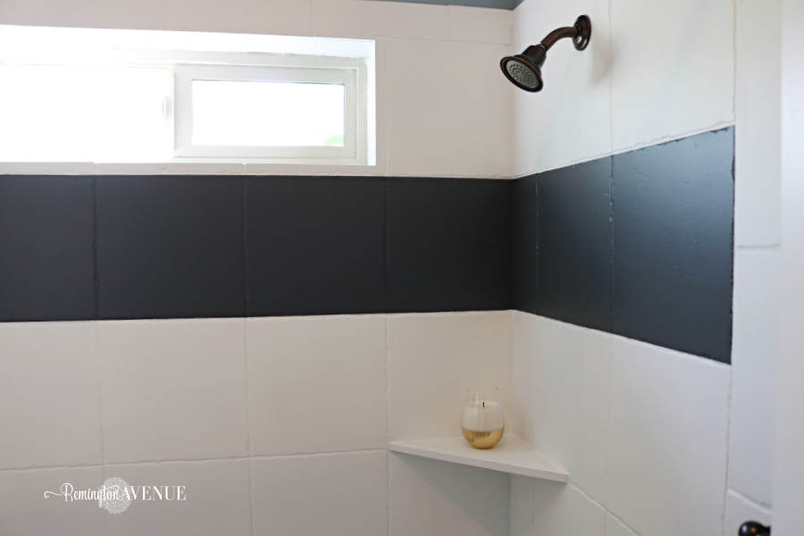 How To Paint Shower Tile Remington Avenue Enchanting Can I Paint Bathroom Tile