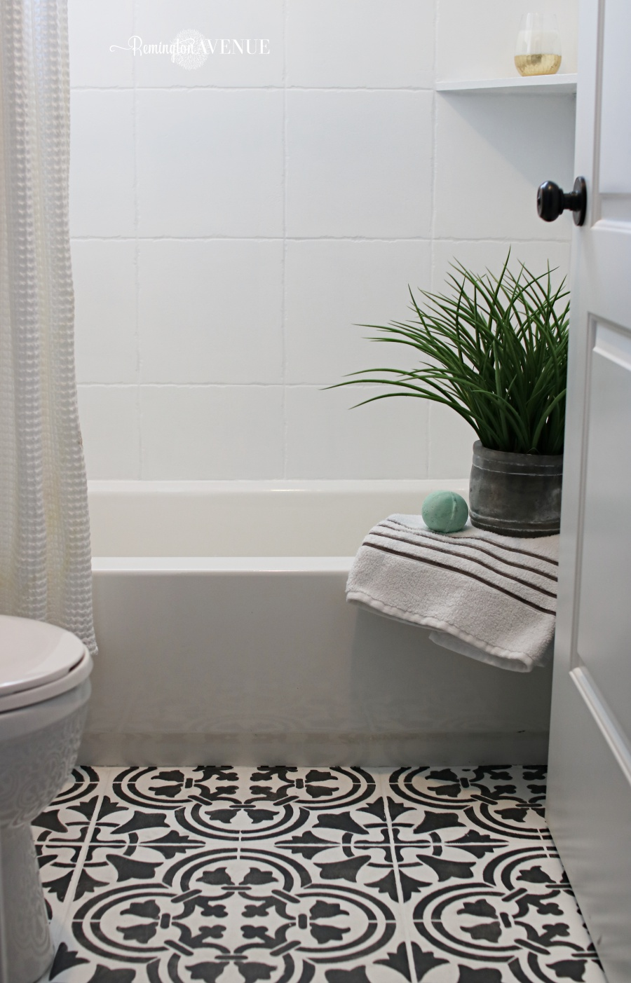 How to paint shower tile remington avenue for How to paint tiles bathroom
