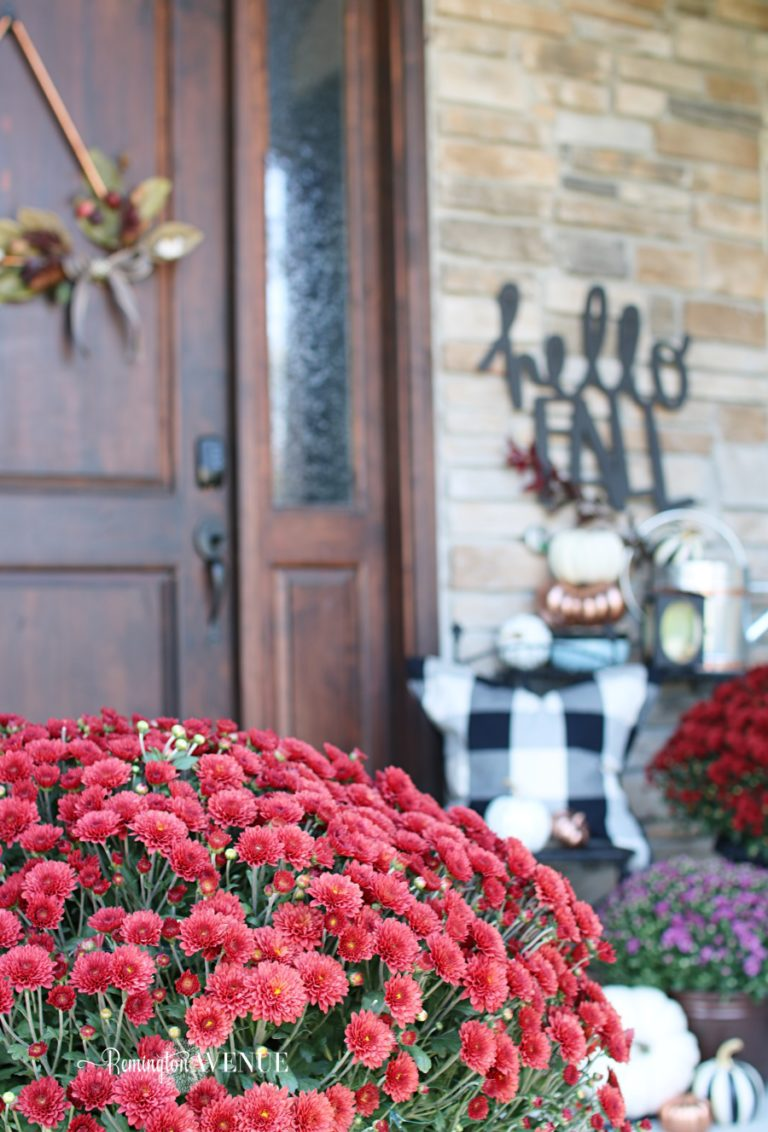 Copper, Jewel Toned Fall Front Porch