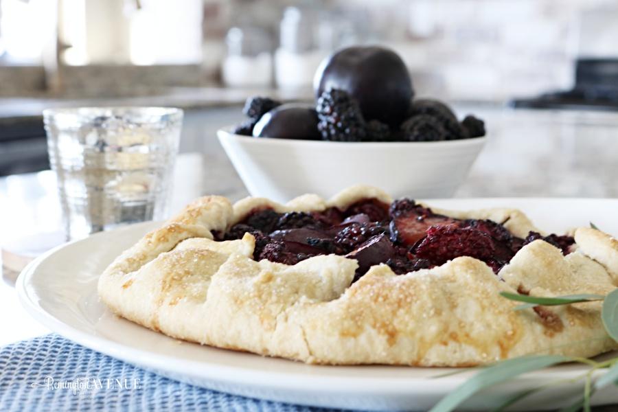 plum, blackberry rustic tart - fall desserts