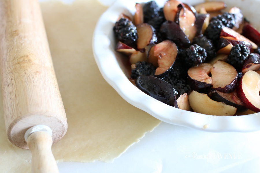 plum, blackberry rustic tart - fall recipes/desserts