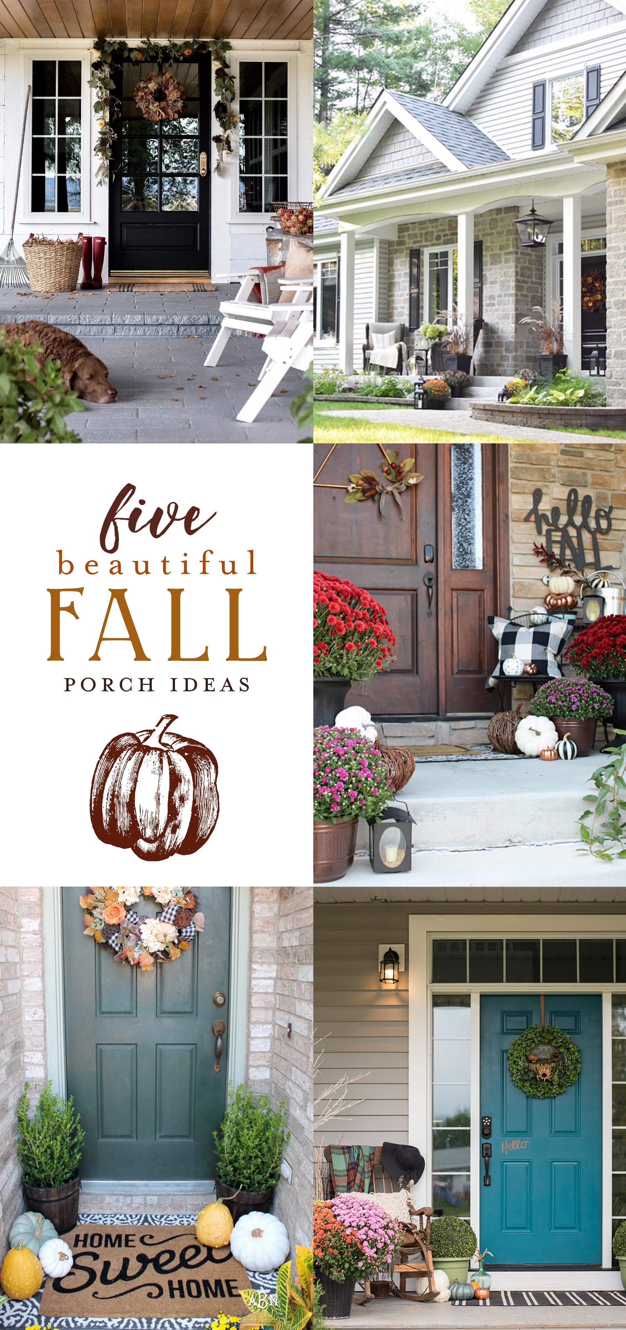 Five beautiful fall porch ideas