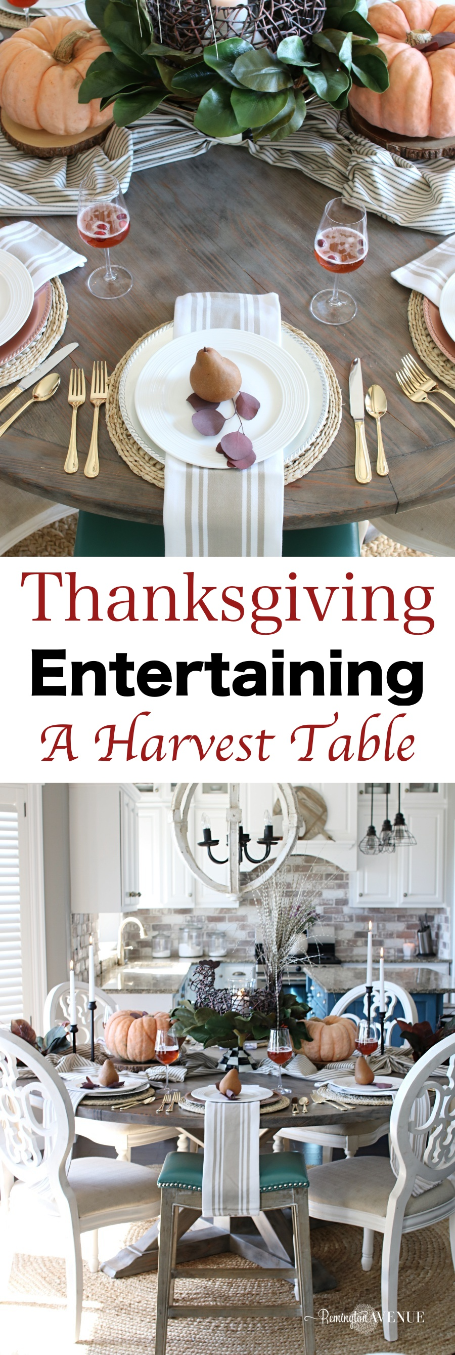 Thanksgiving Entertaining- How to create A harvest Themed table