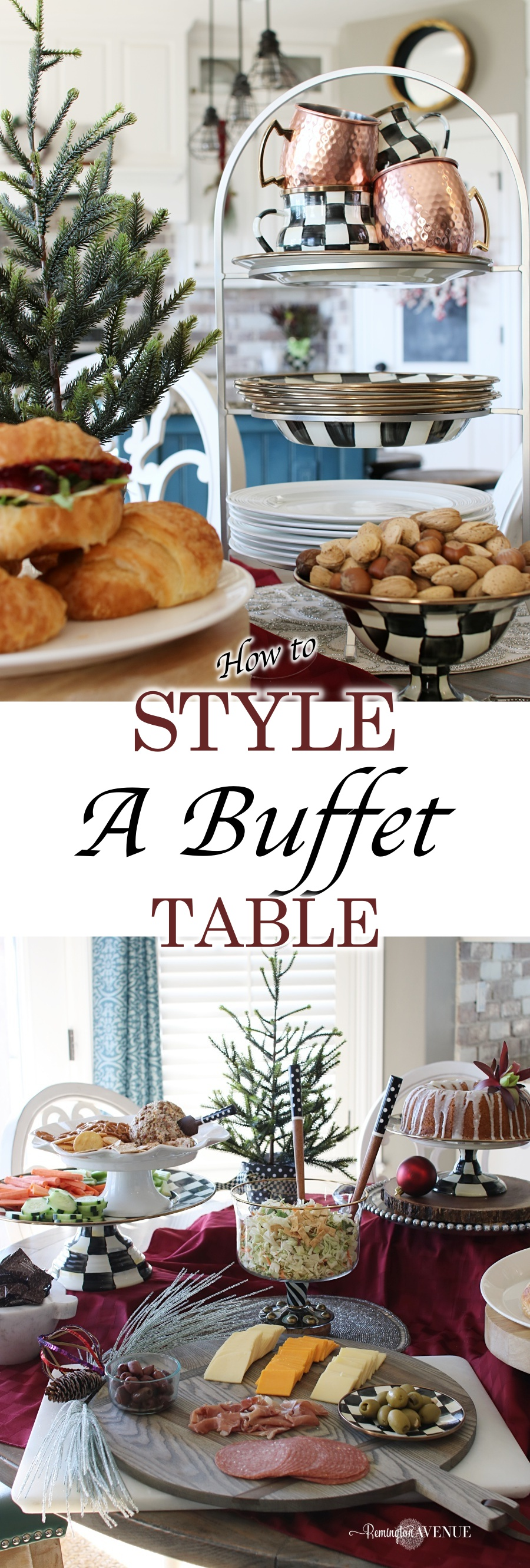 Tips for organizing and styling a buffet table 1