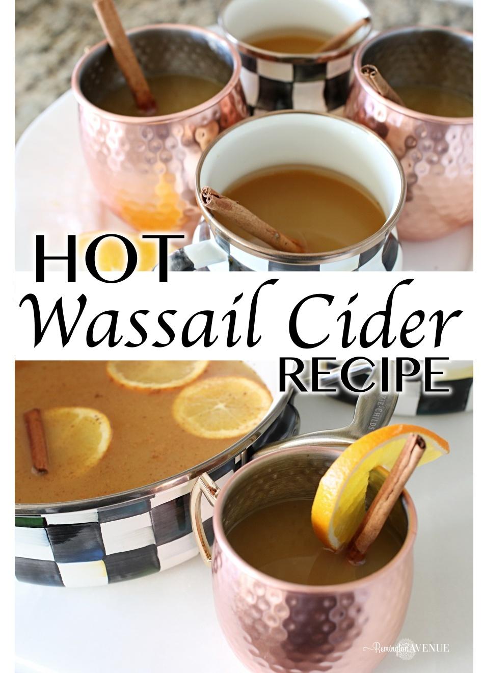 Wassail cider recipe