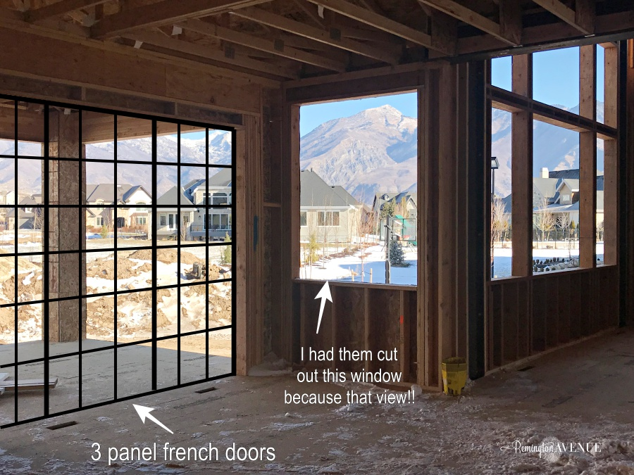 French Country Modern- drawings to framing