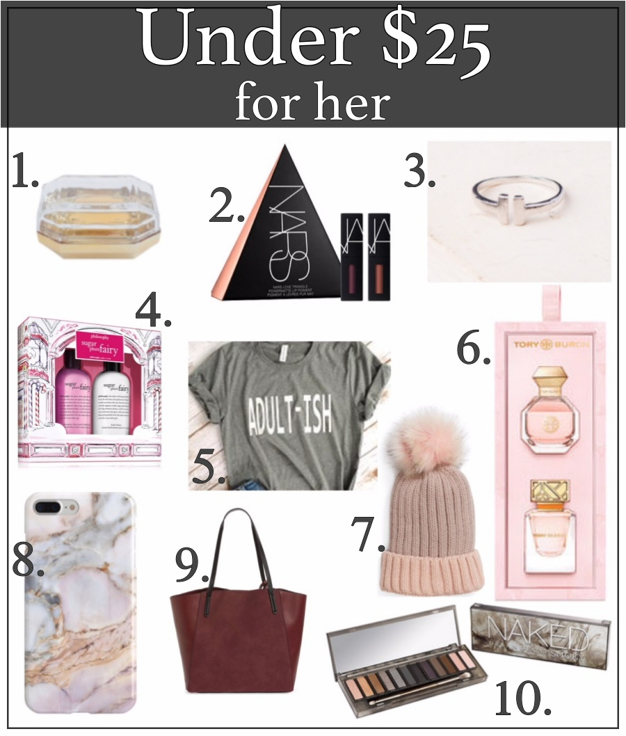 Holiday Gifts for everyone- under $25 for her