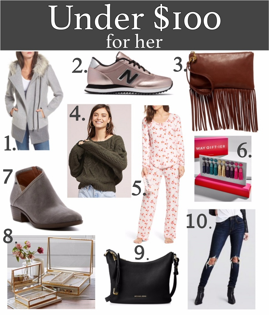 Holiday gifts for everyone -under $100 for her