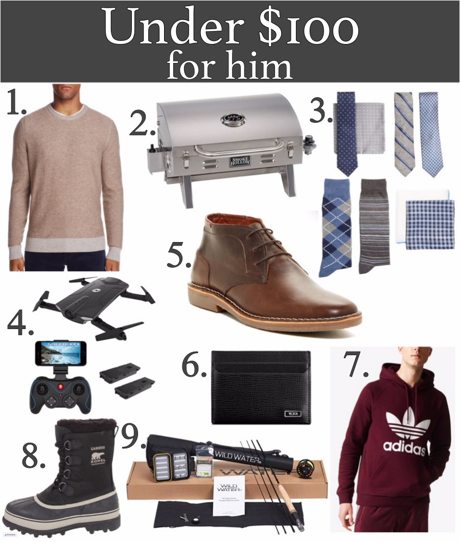 Holiday gifts under $100 for him