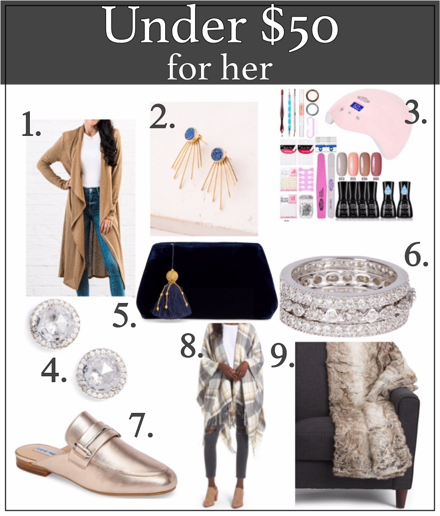 Holiday gift guide for everyone -under $50 for her