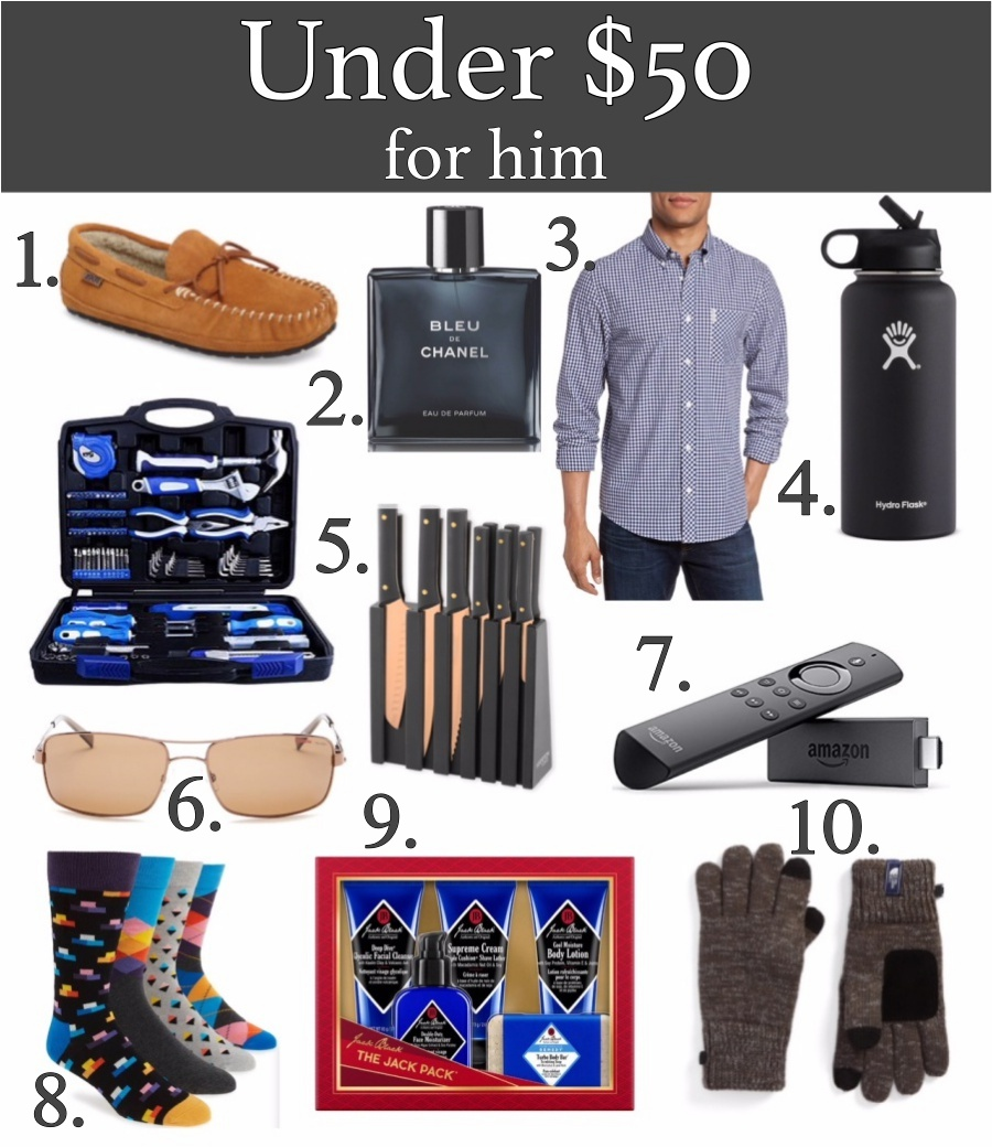 Holiday Gifts for everyone- under $50 for him