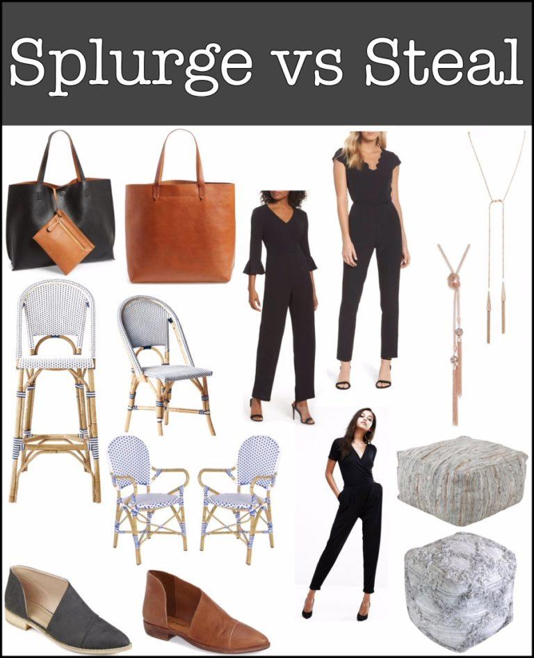 Splurge Vs Steal #1