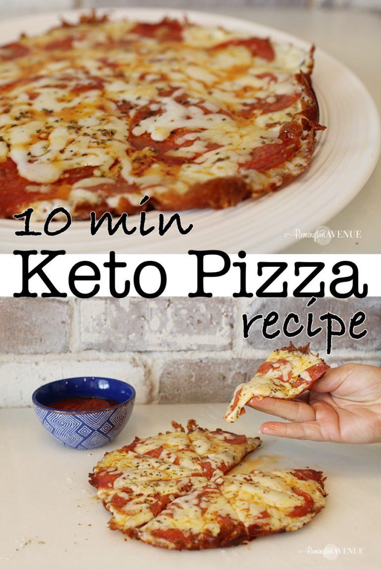 10 minute Ketogenic pizza hack