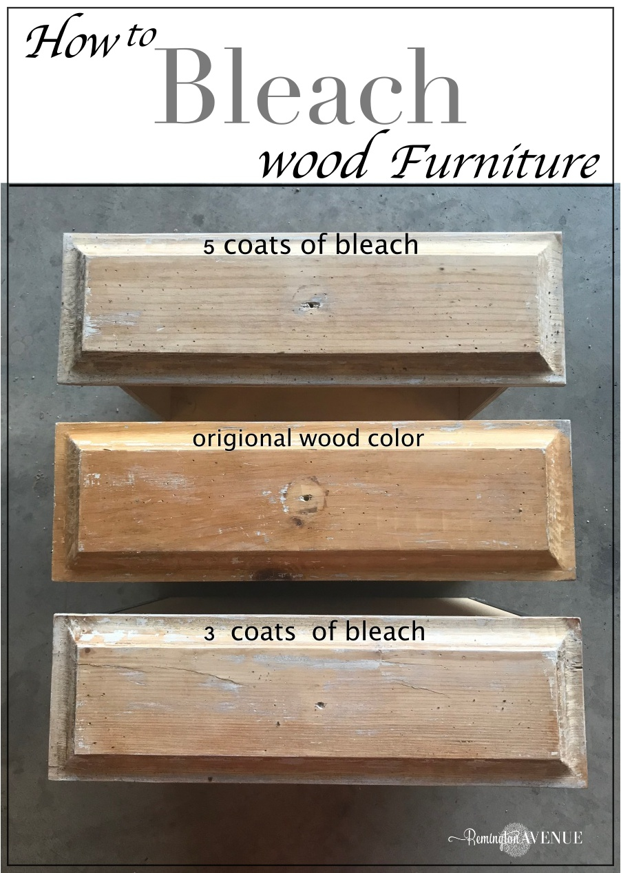 easy bleach wood furniture: the beach affect