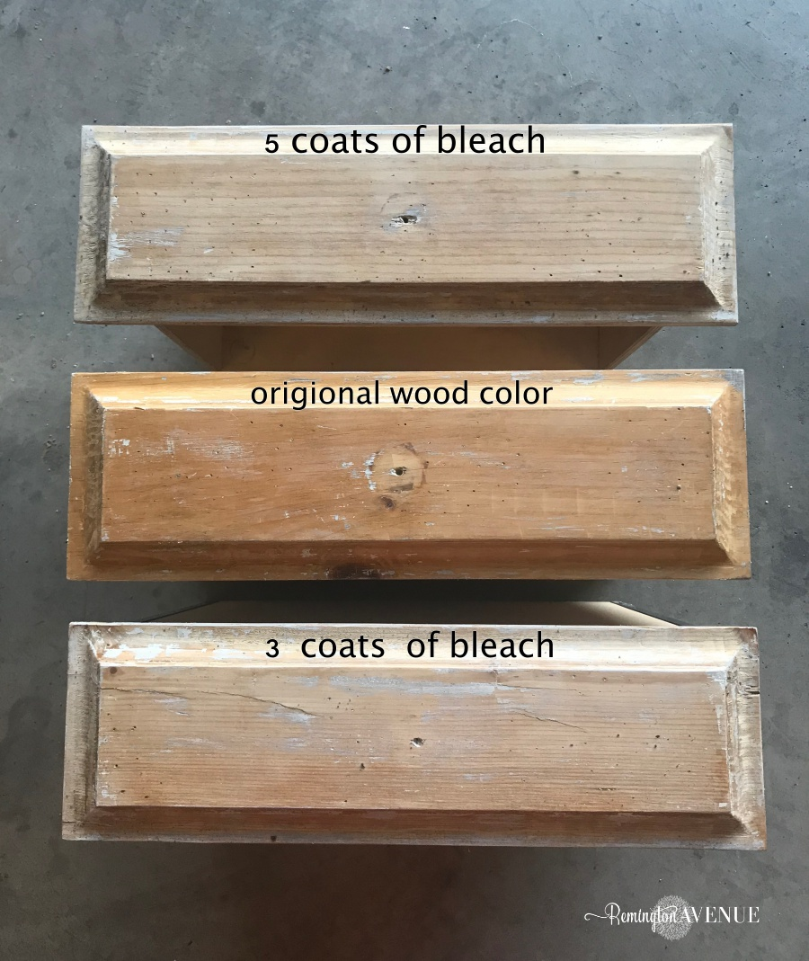Easy Bleach Wood Furniture The Beach Affect