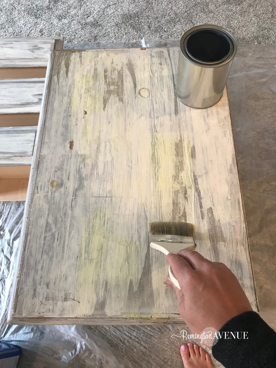 easy bleach wood furniture- the beach affect