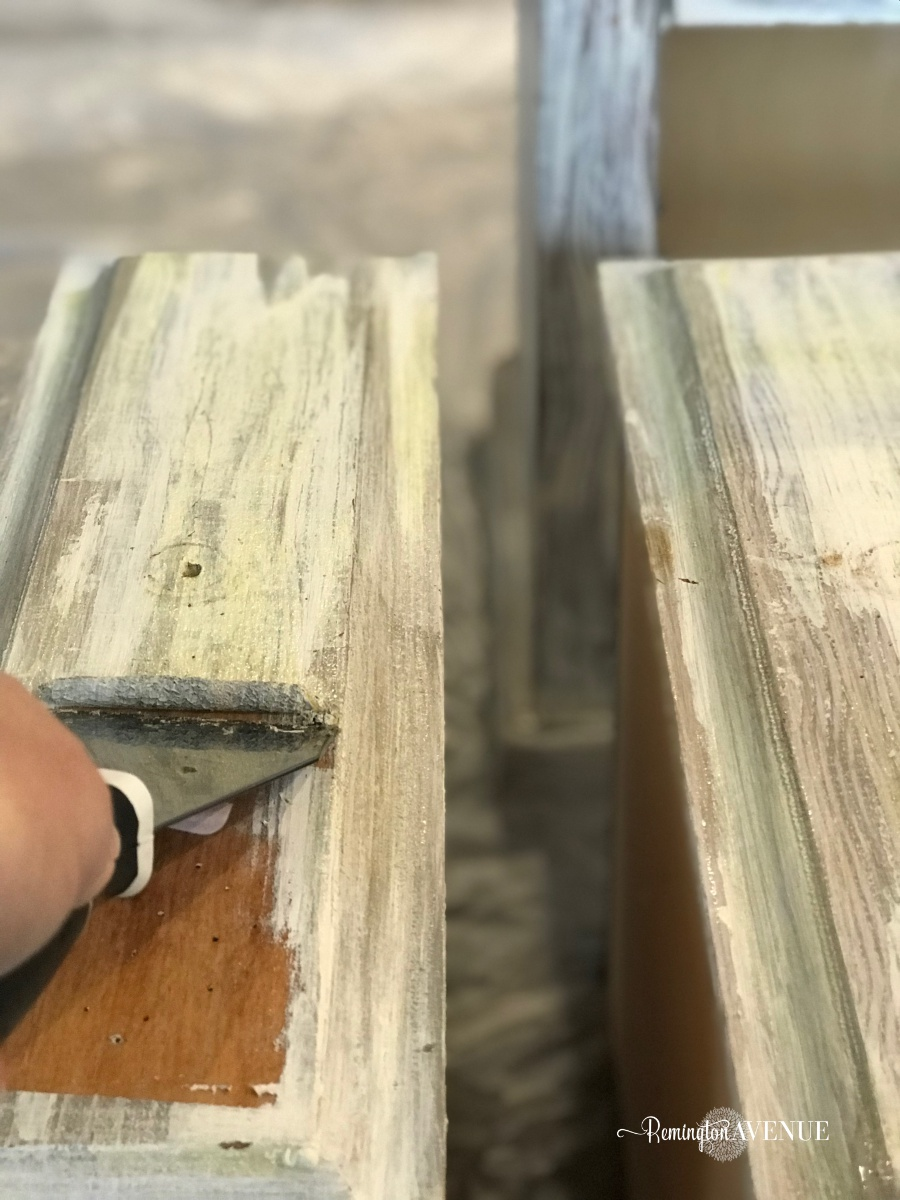 easy bleach wood furniture- the beach affect 1