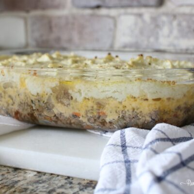 Ketogenic low carb comfort food- Shepherd's Pie Recipe