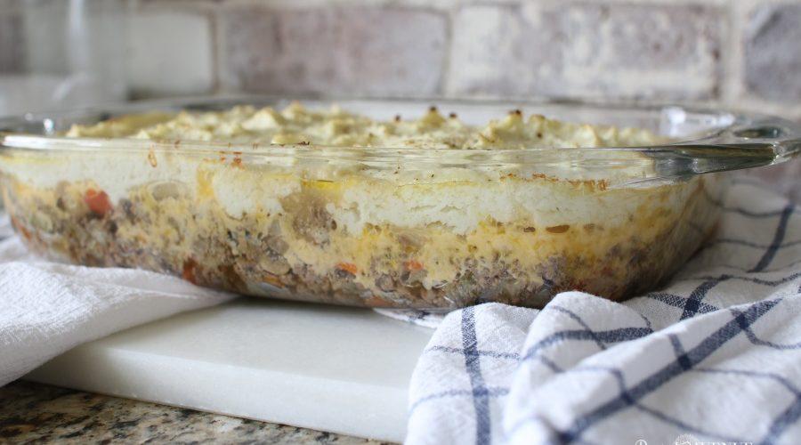 Ketogenic low carb comfort food- Shepards Pie Recipe