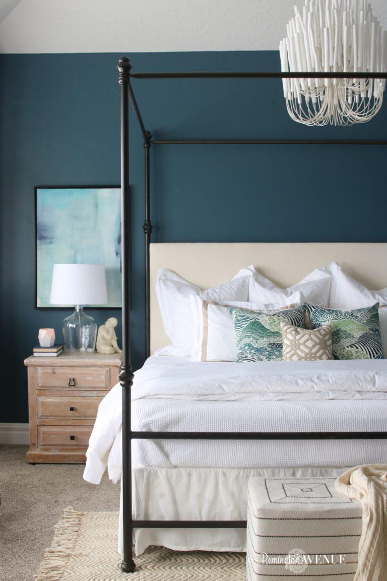 Blue Oasis Master Bedroom Reveal