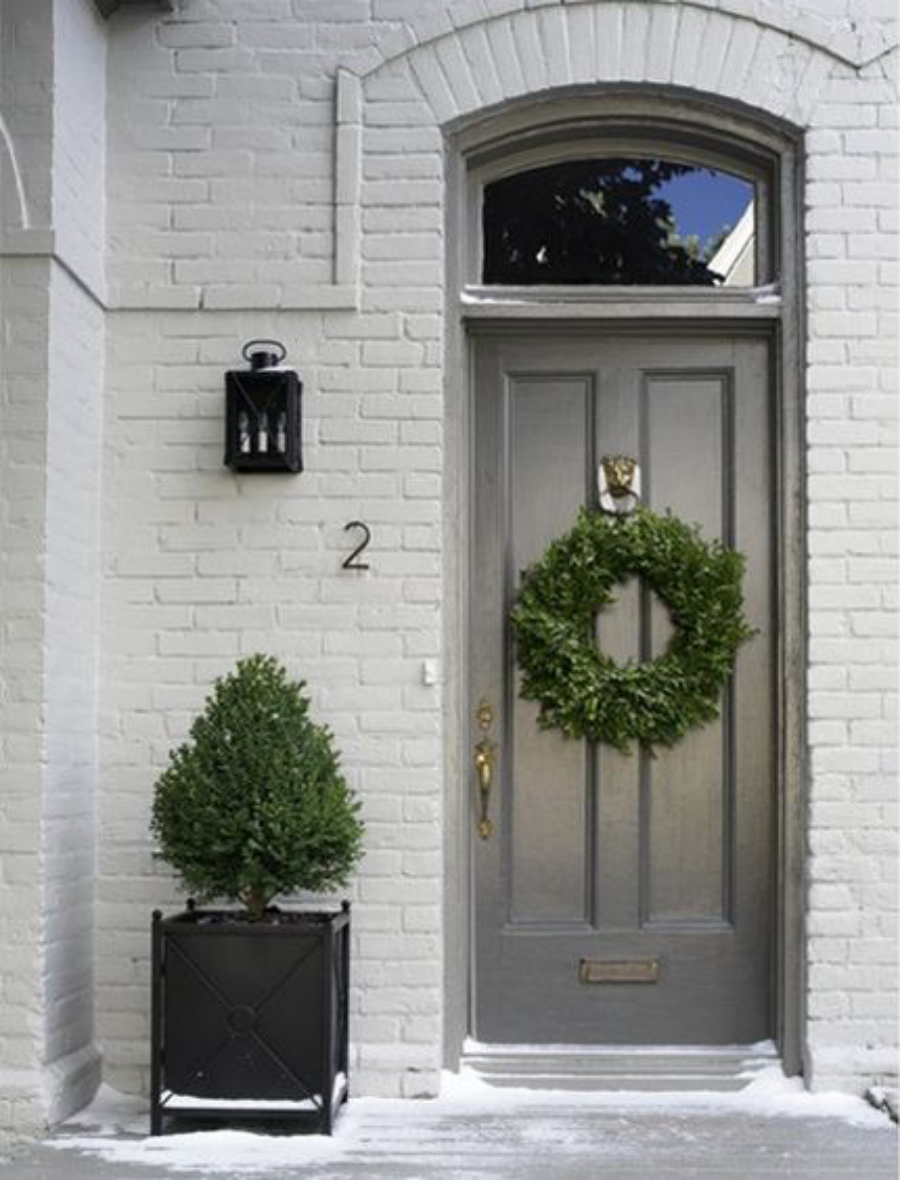 painted brick exterior gray- pros and cons