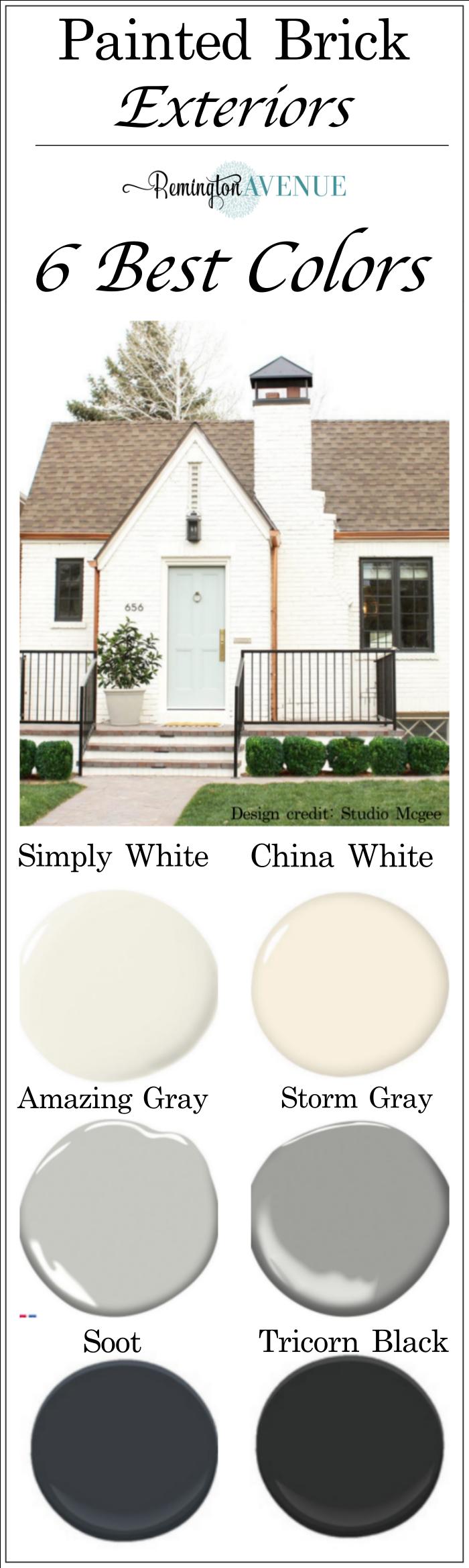 Painted Brick Exteriors Best Paint Colors