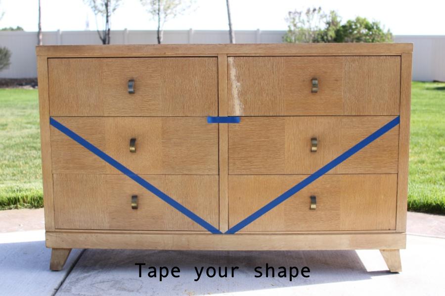 diy boho dresser- midcentury style