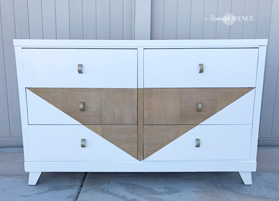 diy boho dresser - midcentury style