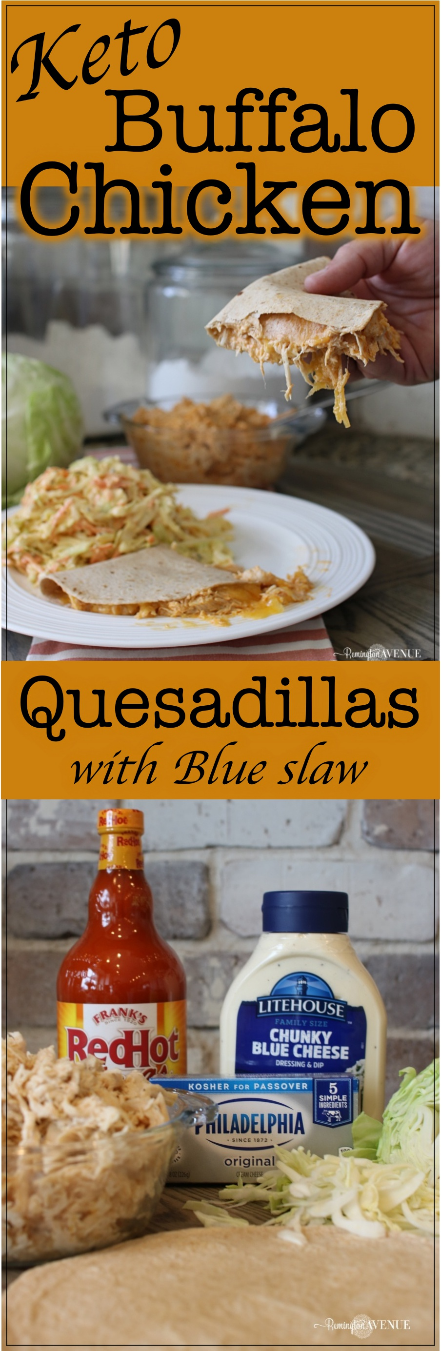 Easy buffalo chicken keto quesadillas- A low carb recipe