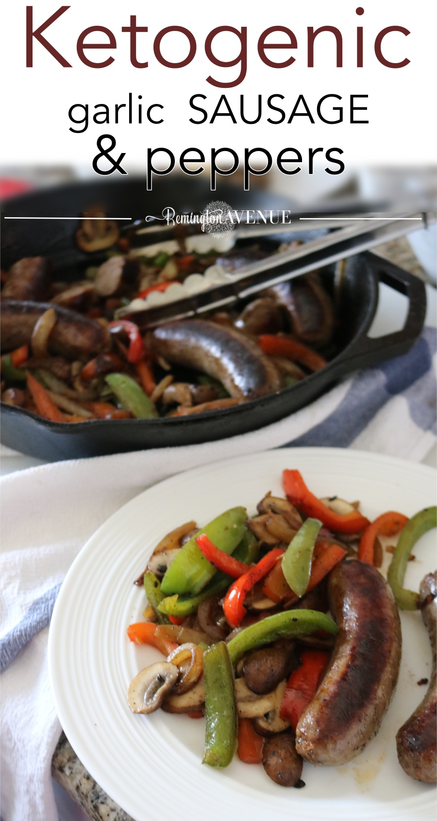 Summer keto bbq recipe- sausage and peppers