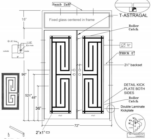 X detail Steel front door