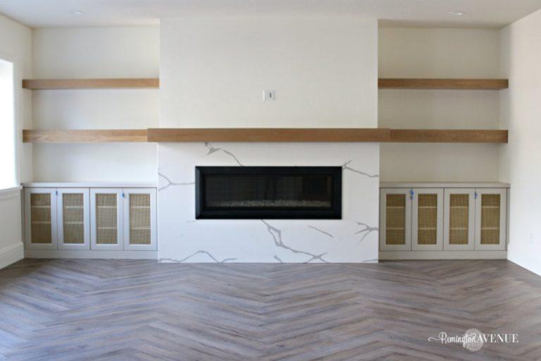 LVP Herringbone Floors & Basement Reveal