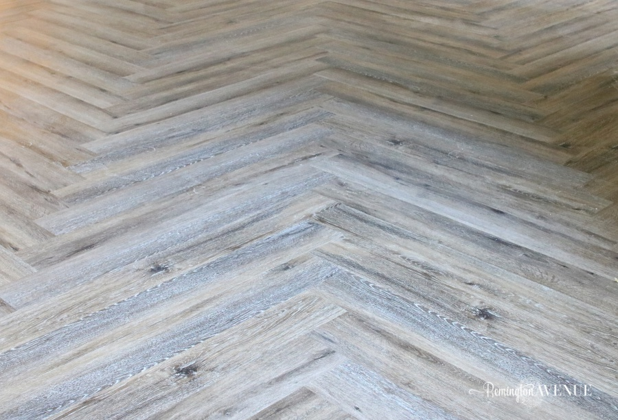 LVP Herringbone Floors & Basement Reveal