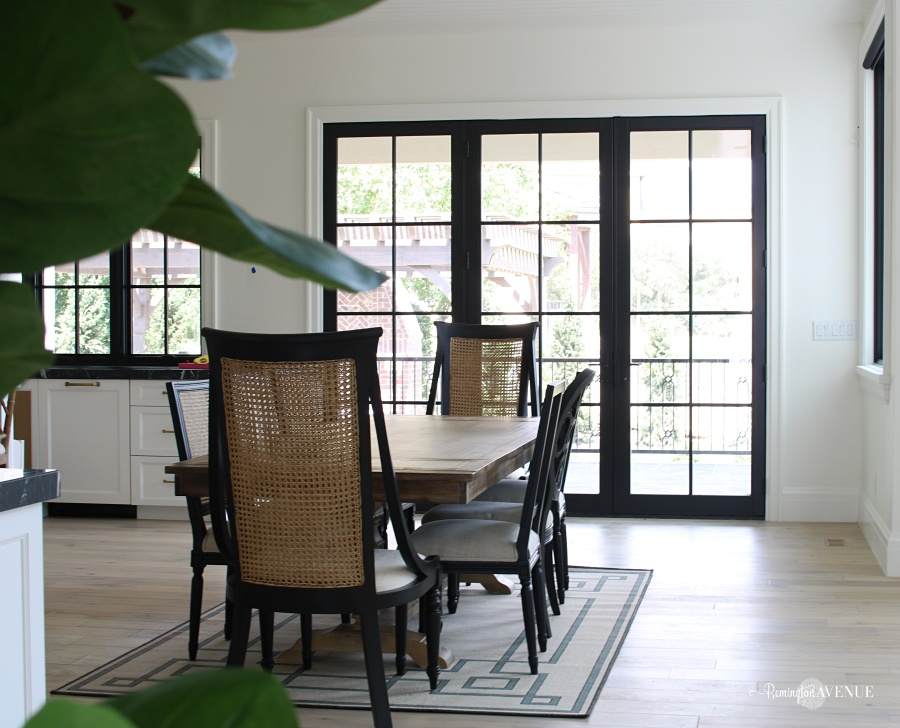 white interior with dark doors - black painted doors