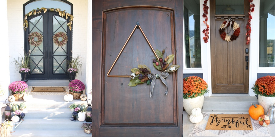 5 must haves for your fall front porch - wreath