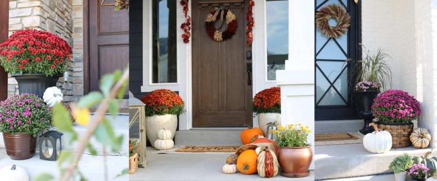 5 must haves for your fall front porch - mums