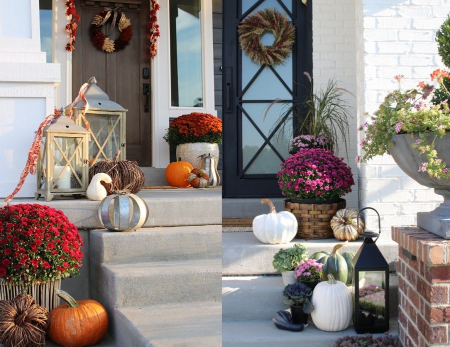 5 must haves for your fall front porch- lanterns