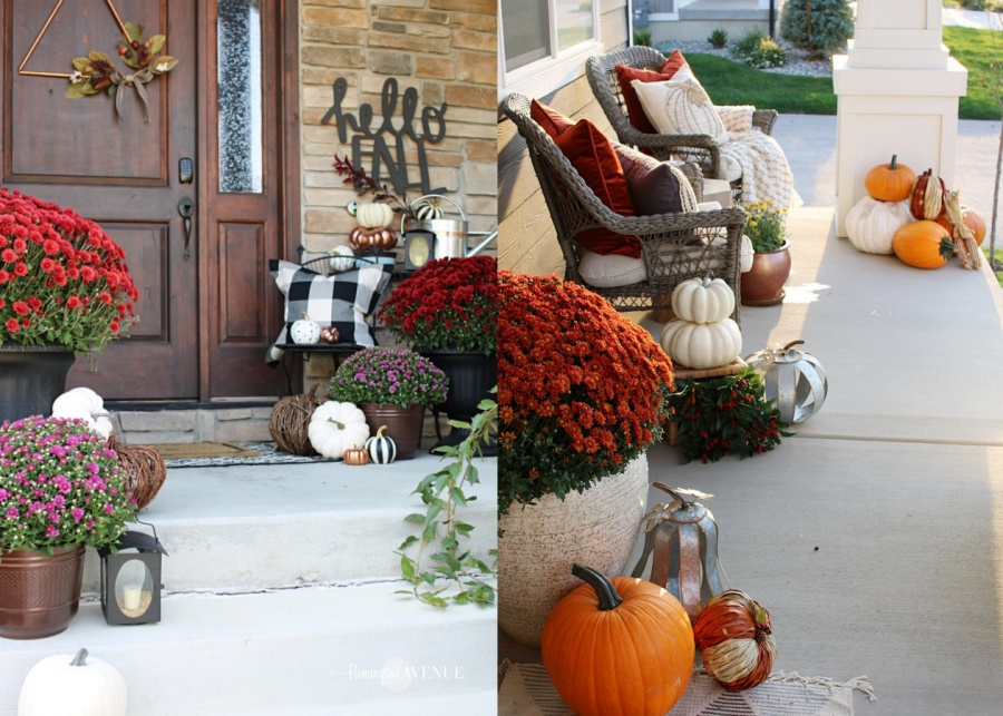 5 must haves for your fall front porch- pumpkins